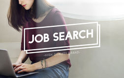 Concepto de Job Search Employment Headhunting Career Fotos de archivo