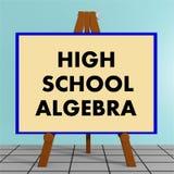 Concepto de la álgebra de la High School secundaria Foto de archivo