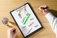 Concepto de la acción en un escritorio Imagen de archivo libre de regalías