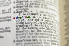Concepto de la adopción Imagen de archivo libre de regalías