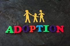 Concepto de la adopción de la familia Fotos de archivo libres de regalías