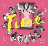 Concepto de la alarma del minuto de la hora del reloj de tiempo Fotos de archivo libres de regalías