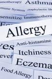 Concepto de la alergia Imagenes de archivo