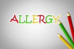 Concepto de la alergia ilustración del vector