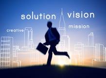 Concepto de la ambición de la creatividad de la idea de Vision Visional del visionario imagen de archivo