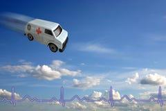 Concepto de la ambulancia imagen de archivo