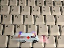 Concepto de la ambulancia - cuidado médico de las tecnologías fotografía de archivo