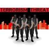 Concepto de la amenaza del terrorismo ilustración del vector