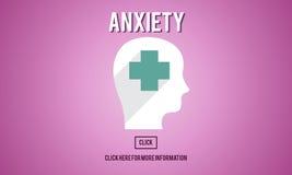 Concepto de la angustia del desorden de la medicina de la ansiedad ilustración del vector