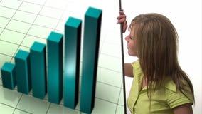 Concepto 2 de la animación del mercado de acción almacen de metraje de vídeo
