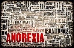 Concepto de la anorexia Foto de archivo libre de regalías