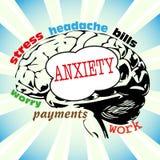 Concepto de la ansiedad Imagen de archivo