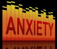 Concepto de la ansiedad. stock de ilustración