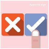 Concepto de la aprobación Los mejores iconos bien escogidos Imagen de archivo libre de regalías