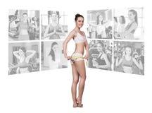 Concepto de la aptitud de cuerpo perfecto Imagen de archivo