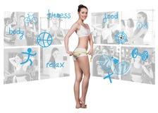 Concepto de la aptitud de cuerpo perfecto Foto de archivo libre de regalías