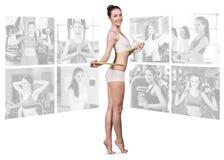 Concepto de la aptitud de cuerpo perfecto Imagenes de archivo
