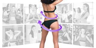 Concepto de la aptitud de cuerpo perfecto Fotos de archivo libres de regalías