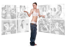 Concepto de la aptitud de cuerpo perfecto Foto de archivo