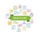 Concepto de la aptitud de la vida de la salud Vector libre illustration