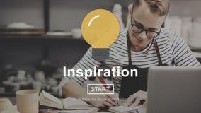 Concepto de la aspiración de la imaginación de la motivación de la inspiración imagen de archivo