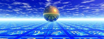 Concepto de la astrología ilustración del vector
