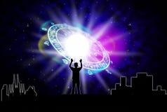Concepto de la astrología Foto de archivo libre de regalías