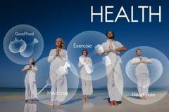 Concepto de la atención sanitaria de la vitalidad de la salud del bienestar de la salud Imagen de archivo libre de regalías