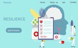 Concepto de la atención sanitaria de la neurología stock de ilustración