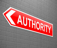 Concepto de la autoridad stock de ilustración