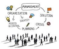 Concepto de la autoridad de la organización del planeamiento de la solución de la gestión ilustración del vector