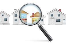 Concepto de la búsqueda de casa imagenes de archivo