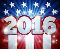Concepto 2016 de la bandera americana de la elección Fotografía de archivo libre de regalías