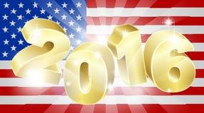 Concepto 2016 de la bandera americana de la elección Foto de archivo