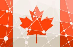 Concepto de la bandera de Canadá Fotos de archivo