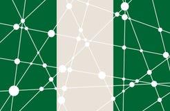 Concepto de la bandera de Nigeria Imágenes de archivo libres de regalías