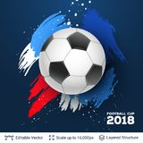 Concepto 2018 de la bandera del mundial de la FIFA libre illustration