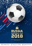 Concepto 2018 de la bandera del mundial de la FIFA stock de ilustración