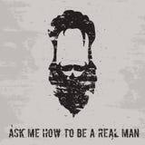Concepto de la barba stock de ilustración
