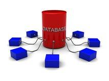 Concepto de la base de datos Fotografía de archivo libre de regalías