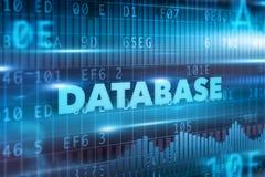 Concepto de la base de datos Foto de archivo libre de regalías