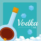 Concepto de la bebida de la vodka ilustración del vector