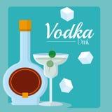 Concepto de la bebida de la vodka libre illustration