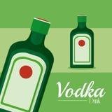 Concepto de la bebida de la vodka stock de ilustración