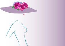 Concepto de la belleza, mujer de la moda del logotipo de la tienda Imagen de archivo