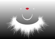 Concepto de la belleza, salón de belleza, joyería, silueta de la mujer, ejemplo del vector Imagen de archivo libre de regalías