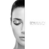 Concepto de la belleza y de Skincare del balneario diseño de la plantilla Fotos de archivo