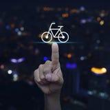 Concepto de la bicicleta de los servicios a empresas Foto de archivo