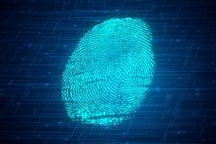 Concepto de la biométrica ilustración del vector