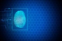 Concepto de la biométrica stock de ilustración